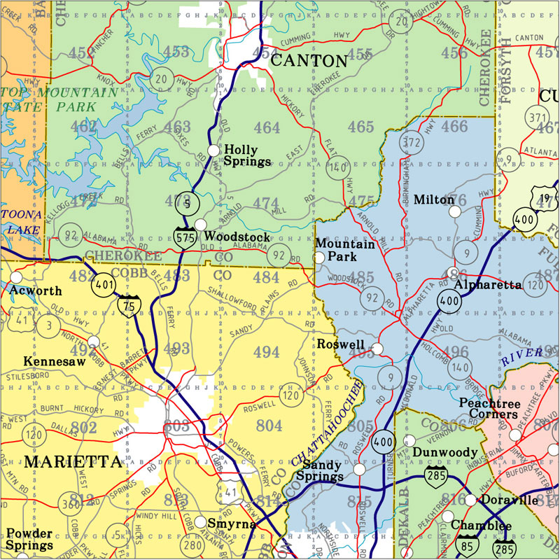 Highway Map Of Georgia.Georgia State Highway Wall Map State Of Georgia Highway Wall Map 2019