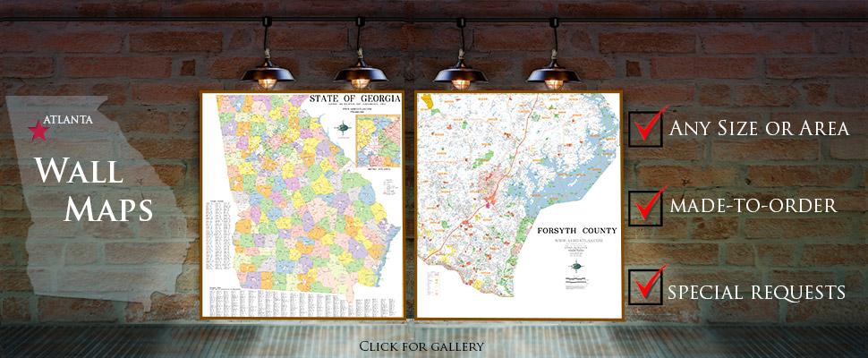 Atlanta georgia map publisher aero surveys of georgia aero atlas gumiabroncs Image collections