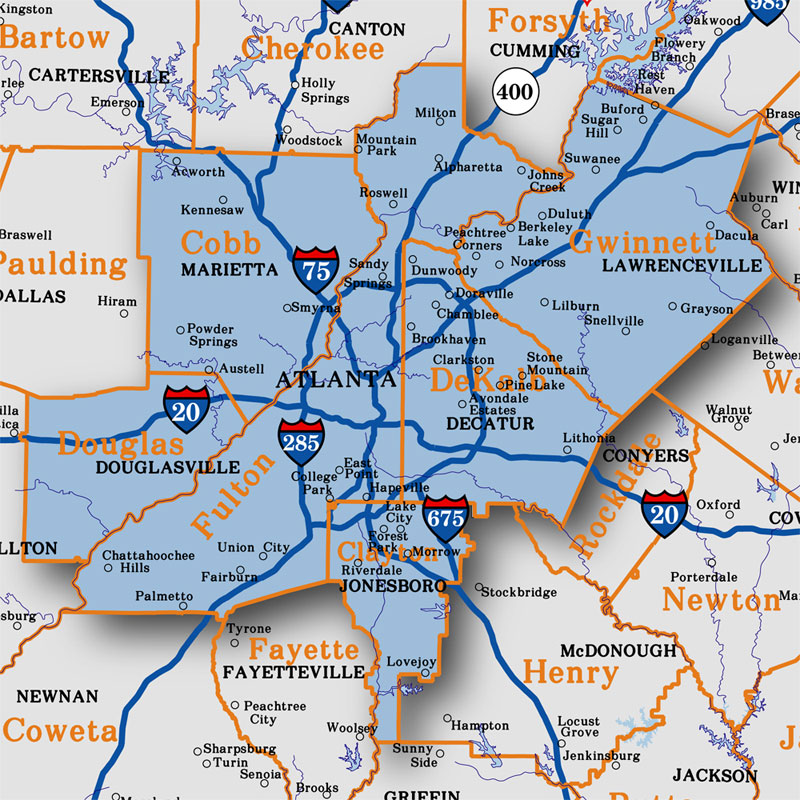 Roswell Zip Code Map.Georgia Metro Atlanta Aero Atlas Data 2018 19 Atlanta